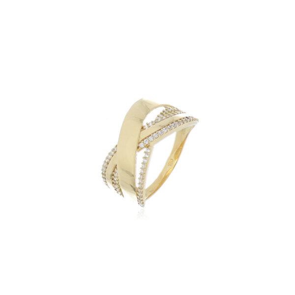 anillo oro amarillo zircon