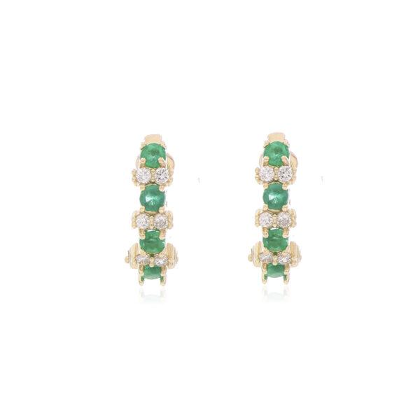 ARETE Oro Amarillo Esmeralda Diamantes